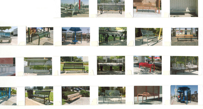 different bench types in Los Angeles